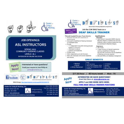 ASL Instructor and Deaf Skills Trainer Career Opportunities